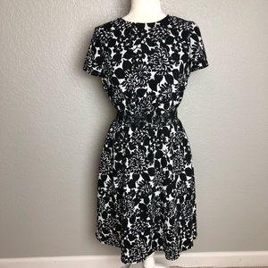 Brooks Brothers Black & White Floral Dress 4